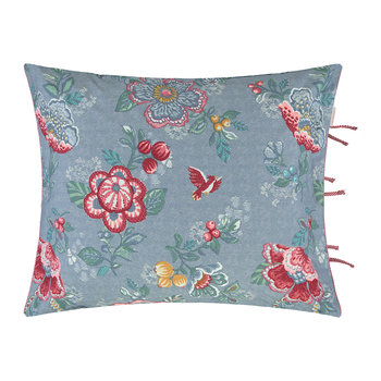 Berry Bird Cushion - 45x65cm - Blue