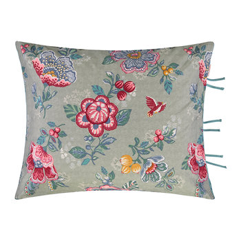 Berry Bird Cushion - 45x65cm - Green