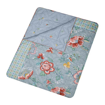Berry Bird Tagesdecke - Blau