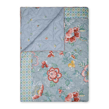 Berry Bird Bedspread - Blue
