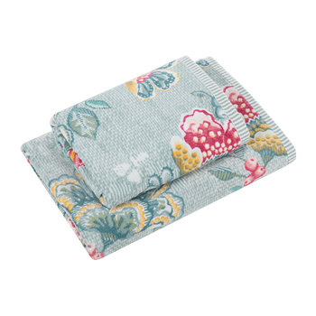 Berry Bird Towel - Blue