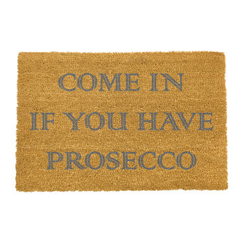 Prosecco Doormat - Grey