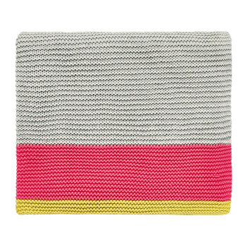 Mini Patchwork Knitted Throw - Pink