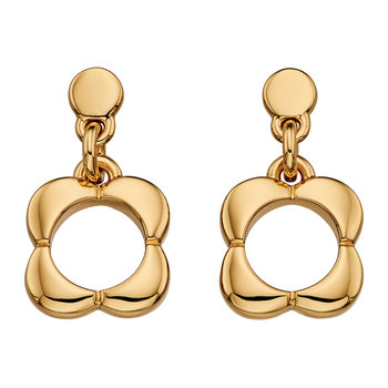 Open Flower Earrings - Gold