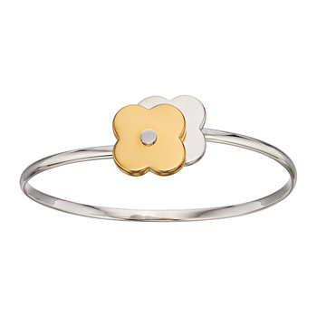 Shadow Flower Bangle - Silver/Gold