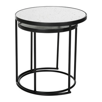 Round Table with Glass Top - Set of 2
