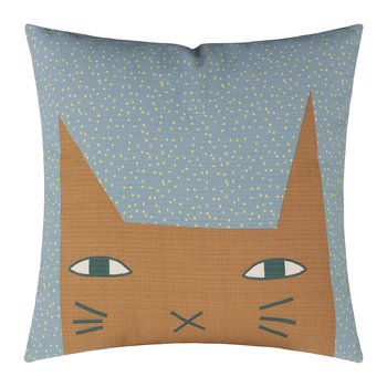 Cat Ears Reversible Pillow - Duck Egg