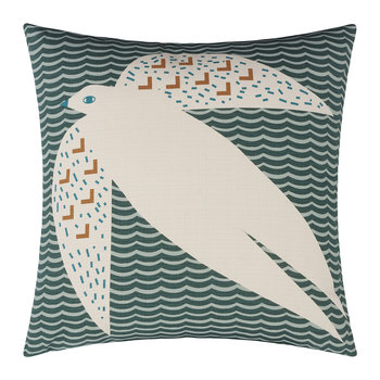 Flying Bird Pillow - Dark Green