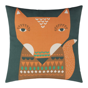 Fox Reversible Pillow - Orange