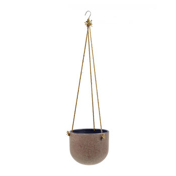Vintage Hanging Pot - Purple