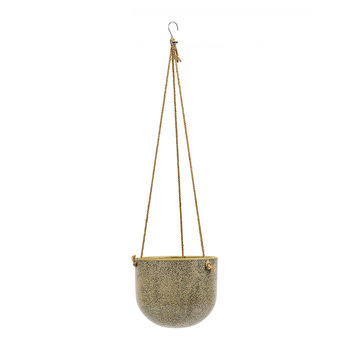 Vintage Hanging Pot - Brown
