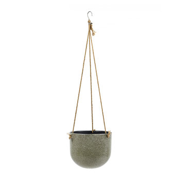 Vintage Hanging Pot - Green