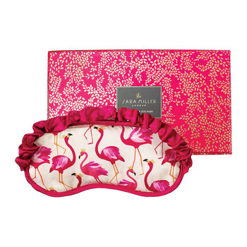 Silk Eye Mask - Flamingo
