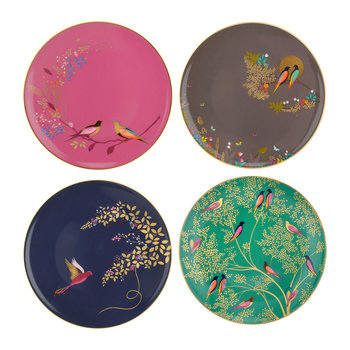Chelsea Collection Cake Plates - Set of 4