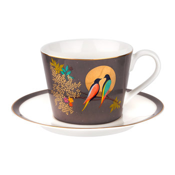 Chelsea Collection Teacup & Saucer - Dark Grey