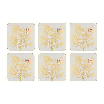 Chelsea Collection Coasters - Light Grey - Set of 6