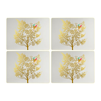 Chelsea Collection Placemats - Light Gray - Set of 4