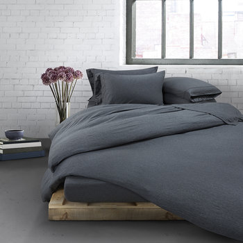 Modern Cotton Body Duvet Cover - Charcoal