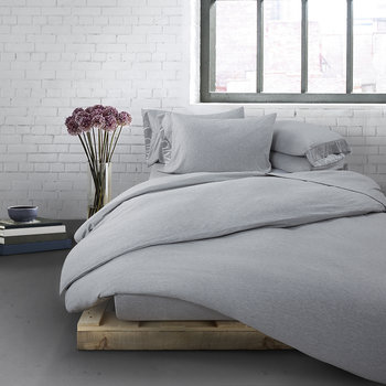 Modern Cotton Body Duvet Cover - Grey