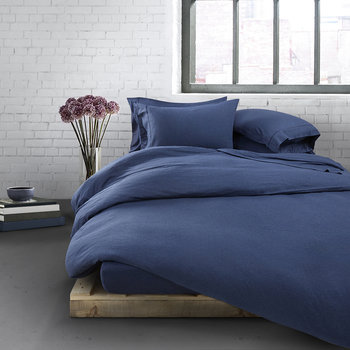 Modern Cotton Body Duvet Cover - Indigo