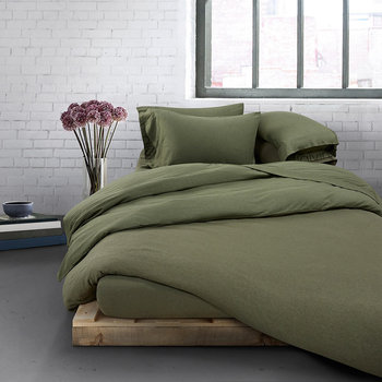 Modern Cotton Body Duvet Cover - Moss