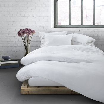 Modern Cotton Body Duvet Cover - White