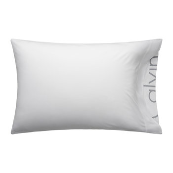 Modern Cotton Body Pillowcase - White - 50x75cm