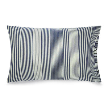 Modern Cotton Rhythm Pillowcase - Indigo - 50x75cm