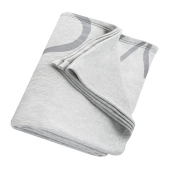 Cropped Logo Throw/Blanket - Grey