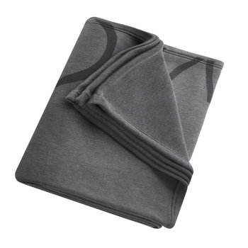 Cropped Logo Throw/Blanket - Charcoal