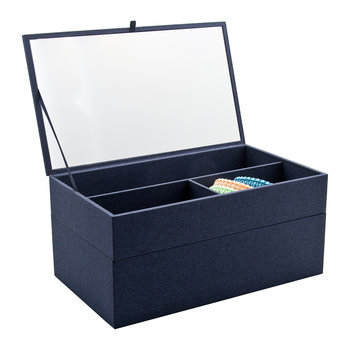 Cardigan Classic Jewellery Box - Navy