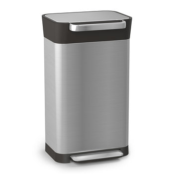 Titan Trash Compactor Can - Stainless Steel