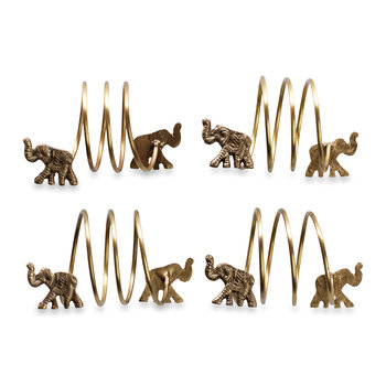 Napkin Rings - Set of 4 - Elephant