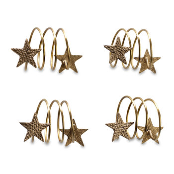 Napkin Rings - Set of 4 - Star