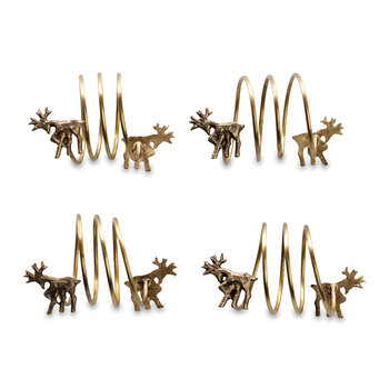 Napkin Rings - Set of 4 - Stag