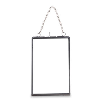 Kiko Glass Photo Frame - Silver - Portrait