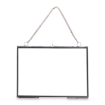 Kiko Glass Photo Frame - Silver - Landscape