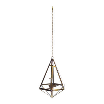 Mokomo Hanging Lantern - Antique Brass - Medium