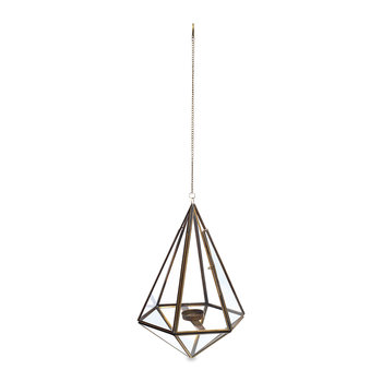 Mokomo Hanging Lantern - Antique Brass