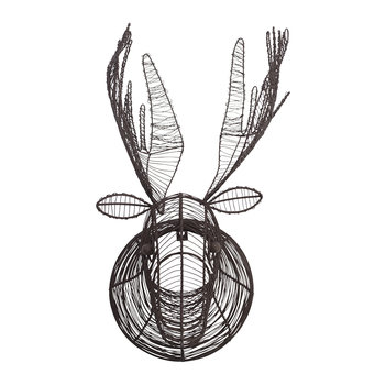 Eco Wire Animal Head - Moose