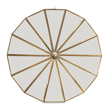 Kiko Decorative Mirror - Antique Brass