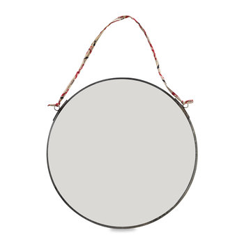 Kiko Round Mirror - Antique Zinc