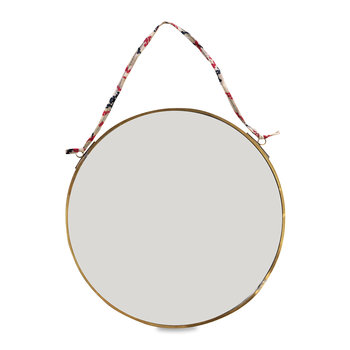 Kiko Round Mirror - Antique Brass