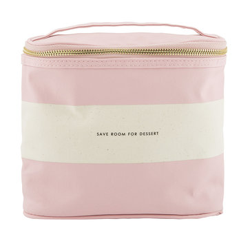 Rugby Stripe Lunch Tote - Blush