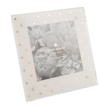 Photo Frame - Silver Dot