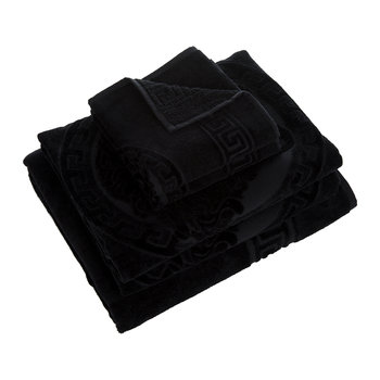 Medusa Classic Bath Towels - Set of 5 - Black