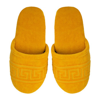 Men's Medusa Classic Jacquard Slippers - Gold