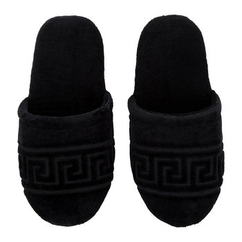 Men's Medusa Classic Jacquard Slippers - Small - Black