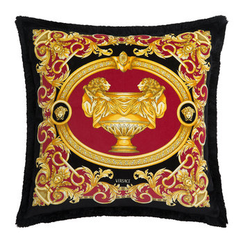 Le Vase Baroque Velvet Pillow - 45x45cm - Red/Black/Gold