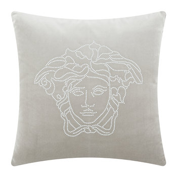 Medusa Studs Cushion - 45x45cm - Light Grey